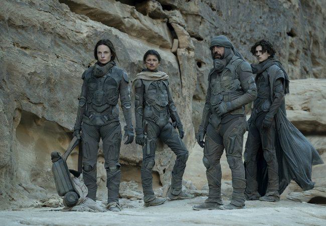 Dune Starring Timothée Chalamet, Josh Brolin, Stellan Skarsgård, Dave Bautista, Zendaya