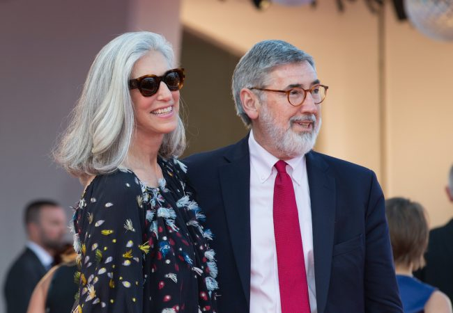 John Landis and wife, Deborah Nadoolman Landis at the Downsizing premiere and Opening Ceremony, 74th Venice Film Festival
