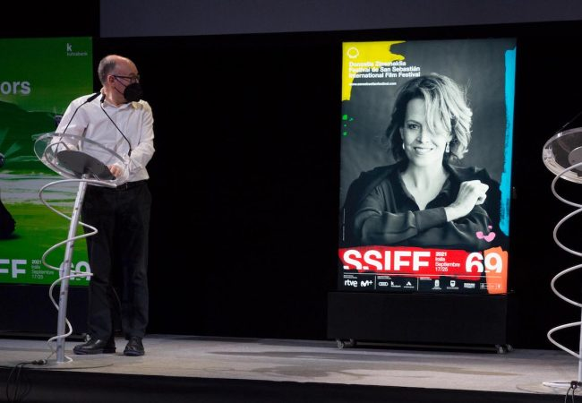 Sigourney Weaver featured on the 69th San Sebastián Festival official poster